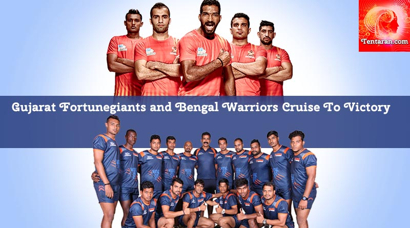 Gujarat Fortunegiants and Bengal Warriors Cruise To Victory