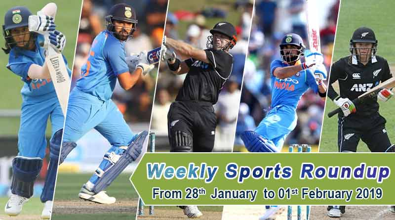 Sports weekly round up from 28th January to 2nd February 2019