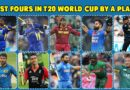 Most Fours in T20 World Cup Players List: Most Boundaries in T20 World Cup by a Player